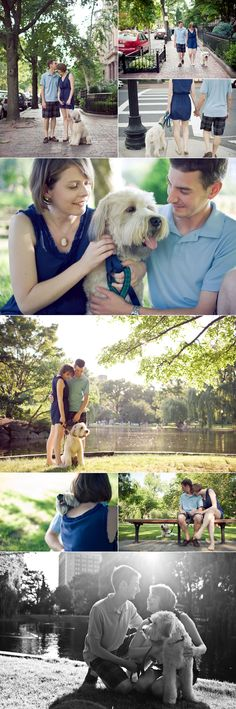 Engagement shoot with puppy!