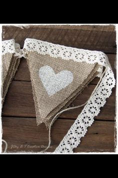 Gorgeous hessian bunting