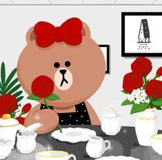 Cony Brown, Cute Baby Cats, Gifs, Friends Wallpaper, Iphone 6 Wallpaper, Bear Cartoon, Line Friends, Cute Illustration, Cute Wallpapers