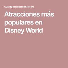 Atracciones más populares en Disney World