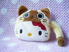 Sanrio JAPAN Original HELLO KITTY x Monster Hunter Airou Small Plush Coin Purse : *Condition* NEW, Released by Sanrio JAPAN x CAPCOM in 2011, sold in JAPAN ONLY! 24.99-32.99 (4.50/4.90/5.50)