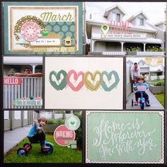 I've been using the gorgeous March Life Pages Kit from Gossamer Blue  to document a few more pages from my Project Life album.     what...