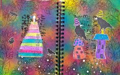 The Crafty Corgi: Another Art Journal Page These pages use Dylusions & @Christy Tomlinson stamps