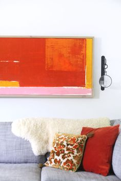 DIY Abstract Art+Framing | A Beautiful Mess