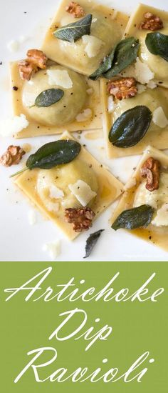 A flavor-packed dish topped with browned butter, fried sage, toasted walnuts and shaved pecorino. | Lunch Recipes, Pasta Night, Easy Pasta Recipes, Easy Ravioli, Homemade Pasta, Easy Dinner Recipes, Family Recipes