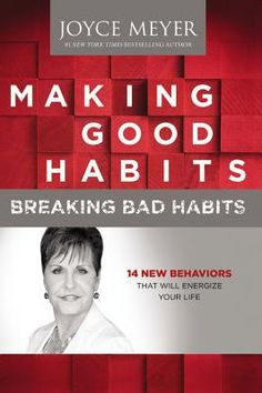 Making Good Habits, Breaking Bad Habits by Joyce Meyer.Joyce Meyer examines the nature of habits and provides guidance for listeners seeking to break bad habits. Here, she introduces fourteen fulfilling habits that she suggests using to replace the bad ones. She explains that by implementing the good habits, listeners will become spiritually fulfilled and will have no use for bad habits. (Adult Non-fiction CD sound recording) 6/25/13