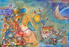"Valentina Richter; Painting, ""The New World I"""