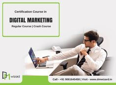 Let your resume do the talking with certifications in #DigitalMarketing. Enroll Now!  Lowest Fees. Expert Training. Hands on Live projects. For Enquiry, Call Us @ 9061645458 | Website: www.dmwizard.in