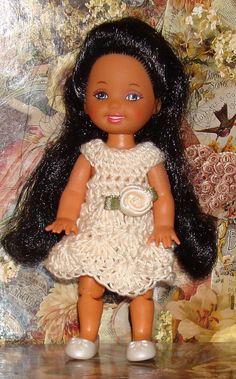 Handmade Crochet Dress For Kelly Barbie by AmberLiteTreasures