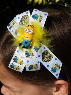 Hey, I found this really awesome Etsy listing at https://www.etsy.com/listing/227492167/minion-despicable-me-blue-glitter