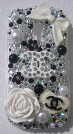 inspired case fits Samsung galaxy s3 mini case Samsung galaxy s4 mini case Lolita bow white rose  pearls black pearls crystals logo sparkles on Etsy, $40.55 AUD