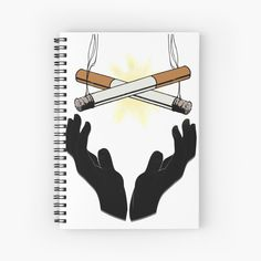 'Holy Cigarette / Praying For Nikotine' Spiral Notebook by RIVEofficial Holi, Spiral, Custom Design, Digital Art, Notebook, Trends, Paper, Artist, Accessories