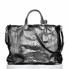 Reed Krakoff Gym Bag II (148.480 RUB) ❤ liked on Polyvore featuring bags, handbags, purses, bolsas, bolsos, python bag, python handbag, handbags purses, reed krakoff and purse bag
