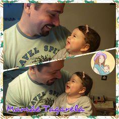O sorriso mais sincero do mundo 😍. Papai Tagarela Bom dia pípou.