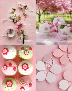 Cherry Blossom Inspiration, Branches, Pink, Dessert, Party, Decor, Decorations 2