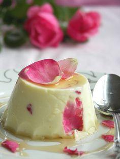 totasteheaven: Saffron Yogurt Mousse with Rose...