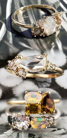 """Can you tell the difference between these """"custom"""" and """"personalized"""" rings? Hint: Personalizations are changes clients make to pieces already in our collections."""