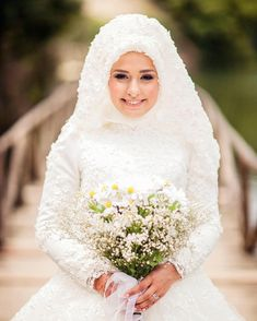 celalcanikGuzel gelinimiz simdi guzel bir anne @yesimhilmi Muslim Wedding Gown, Muslimah Wedding Dress, Muslim Wedding Dresses, Disney Wedding Dresses, Muslim Brides, Bridal Dresses, Wedding Gowns, Muslim Girls, Muslim Women