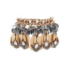 a brass chain hung with exaggerated metal petals makes your whole outfit rock.