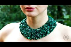 Made in imagination!  Malachite is one of beauterful stones ! The hand made necklace is good for casual look and for evening dress!  Mail: olgavivtso@mail.ru 100$