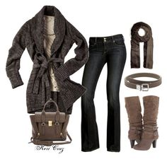 """""""Taupe of the World"""" by keri-cruz ❤ liked on Polyvore featuring Paige Denim, Armani Exchange, Fergalicious, Mulberry, Brunello Cucinelli and 3.1 Phillip Lim"""