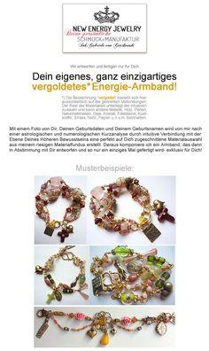 Armbänder - Dein persönliches Energie-Armband, vergoldet - ein Designerstück von Gabriele-von-Gratkowski bei DaWanda