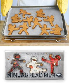 Ninjabread Men Cookie Cutters | 19 Legitimately Awesome Cookie Cutters