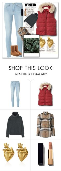 """<3"" by mahailee-kemp on Polyvore featuring Frame, Gap, Uniqlo, Burberry, StrangeFruit and UGG"