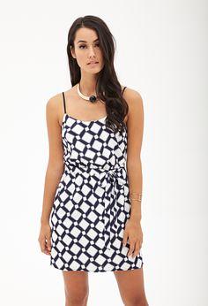 Diamond Print Cami Dress #F21Contemporary