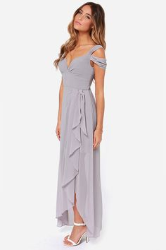 5d0026c8a1a LULUS Exclusive Candied Petals Grey Maxi Dress