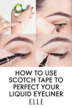 Scotch Tape Trick for Liquid Liners | Great Eyeliner Tips For Makeup Junkies