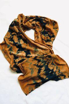 Australian superfine merino wool jersey scarf. Dyed fisrst with natural colour from eucalyptus leaves, then with indigo using rope twist shibori. Email me if you're interested in buying or would like more details susan.fellmclean@gmail.com. #1717 Shibori Techniques, Rope Twist, Eucalyptus Leaves, Shawls, Merino Wool, Indigo, Scarves, Meditation, Colour