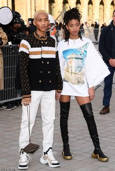 Dynamic: Willow and Jaden Smith were fashion forces to be reckoned with as they arrived at the Louis Vuitton Paris Fashion Week show on Tuesday Black Is Beautiful, Beautiful People, Willow And Jaden Smith, Jaden Smith Fashion, Sup Girl, Celebrity Look, High Fashion, Dope Fashion, Paris Fashion