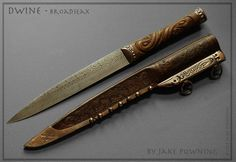 Handmade Swords - Dwine Broadseax Swordsmith: Jake Powning Measurements: overall length cm Swords And Daggers, Knives And Swords, Fantasy Rpg, Medieval Fantasy, Viking Sword, La Forge, Dagger Knife, Sticks And Stones, Dark Ages