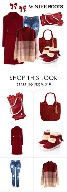 """""""winter Boots """" by dawndyb ❤ liked on Polyvore featuring Straw Studios"""