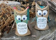 Wisdom Owls Bible Craft Featured