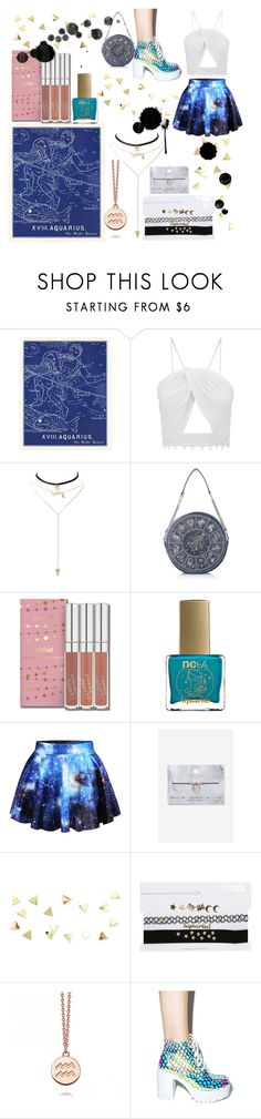 """""""💙Crazy Aquarius♒💙"""" by taguilar122 ❤ liked on Polyvore featuring Charlotte Russe, ncLA, WithChic and Topshop"""