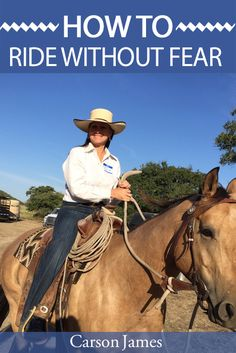 Short video that explains how to ride without fear of being bucked off.