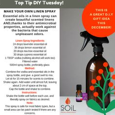 Make your own linen spray