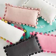 Pom Pom Organic Pillow Cover Balkon – home accessories Diy Pillow Covers, Pillow Cover Design, Decorative Pillow Covers, Duvet Covers, Baby Pillows, Throw Pillows, Pillows For Kids, Burlap Pillows, Craft Stick Crafts