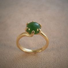 18ct Yellow Gold & jade dress ring,Jade country hokitika, qualified jeweller,Contact us at www.tpgoldsmiths.co.nz