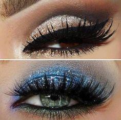 Glitter for brown/blue eyes