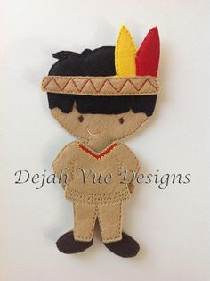 Indian Boy Outfit for 5x7 nonpaper doll