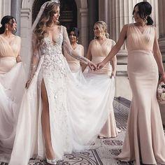 Bridesmaid Dresses Long Champagne, Cheap Bridesmaid Dresses, Bridesmaids, Cheap Wedding Guest Dresses, Lace Evening Dresses, Dream Dress, Fashion Dresses, Satin Tulle, Wedding Ideas