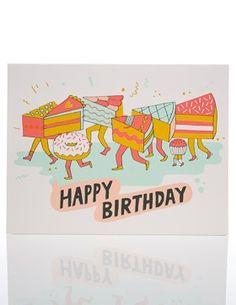 Cake Legs | Red Cap Cards #illustration #birthday