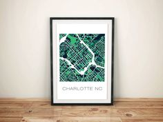 Charlotte NC map showing the property parcels. This print will definitely look good in any room of the house!  ADDITIONAL COLORS AND MAPS AVAILABLE HERE:  https://www.etsy.com/shop/ParMarMedia  DETAILS  - Available in 3 easy to frame size options - Printed on heavyweight matte paper - Frame is not included.  CANT FIND WHAT YOU ARE LOOKING FOR?  We also do custom maps. Just send us a message and we can discuss the details!  THANKS for looking and please check out the other ...