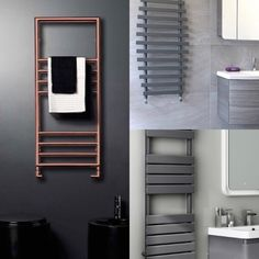 Towel radiator / heated towel rails – Doingupmyhome.com Towel Radiator, Towel Rail, Radiators, Chrome Finish, House, Ideas, Towel Racks, Radiant Heaters, Home