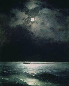The Black Sea at Night -  Ivan Aivazovsky, c.1879