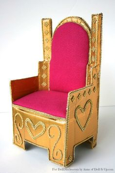 Anna here with something gold and shiny and fit for a queen! I pulled out the stops and decorated this royal throne from top to bottom. Would you believe that beneath the shine and ornamentation …