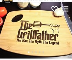 From Etsy funny personalised chopping board